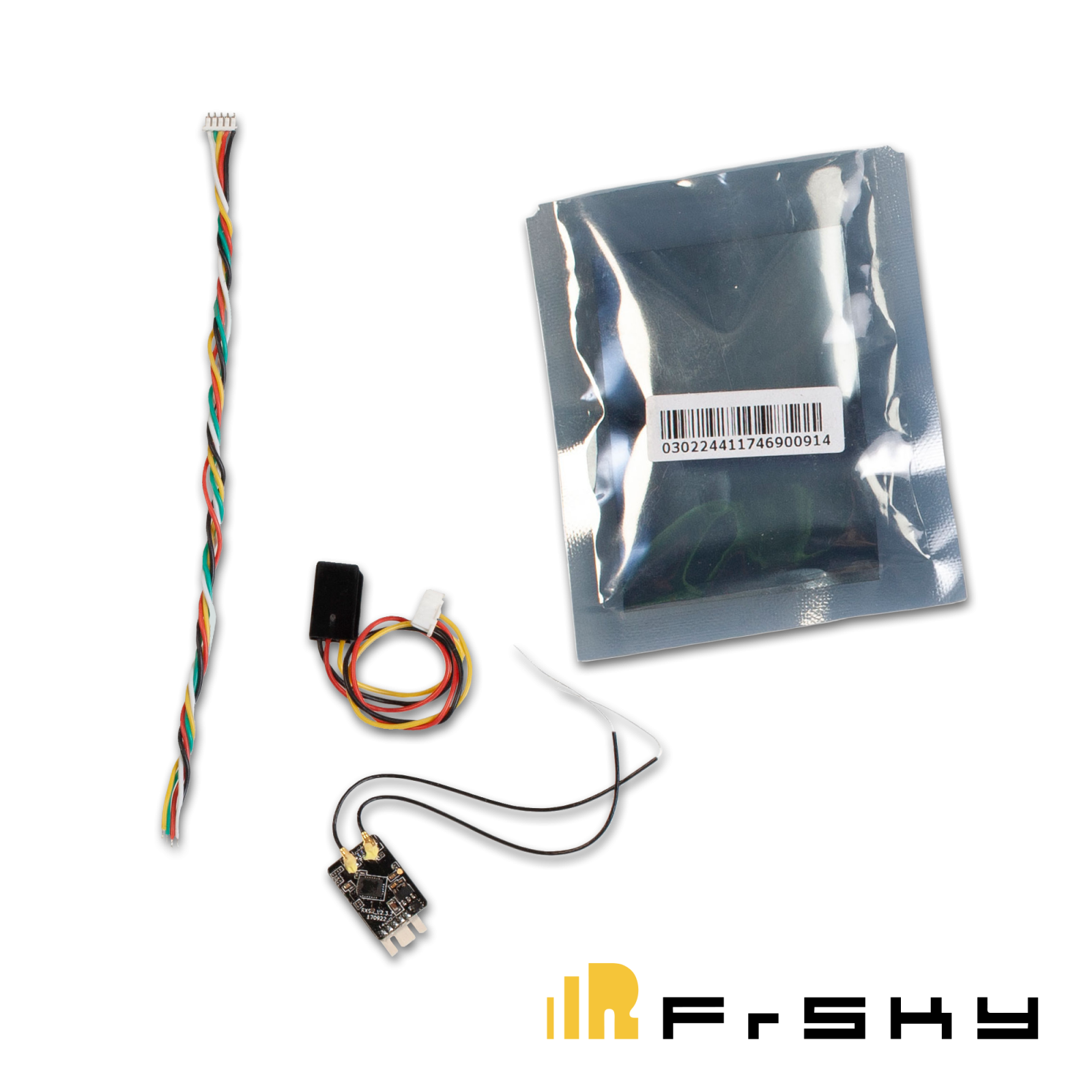 FrSky® R-XSR Ultra-mini RX Pack, 16ch 2 4GHz 1/3 size switchable sbus-cppm  output, TUV_0432