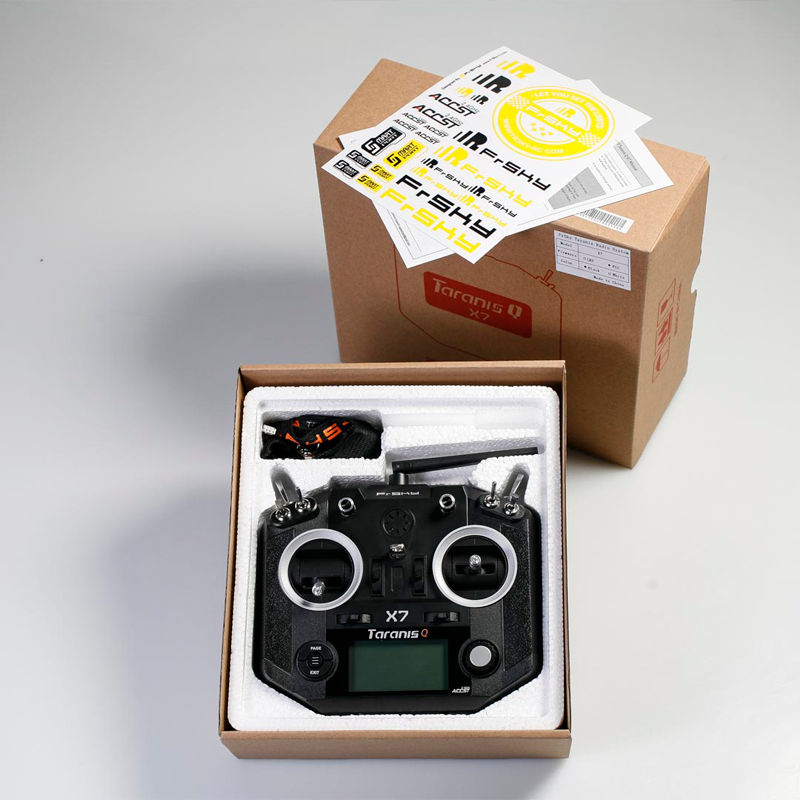 FrSky® Taranis Q X7 TX Pack, 16ch 2 4GHz full-telemetry open-tx with  micro-sd, variable